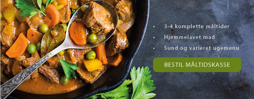 En måltidskasse fra Kokkens Hverdagsmad indeholder alt det, du skal bruge for at lave et komplet aftensmåltid.